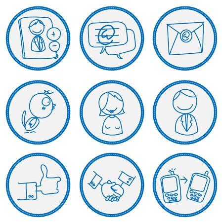 Social network sign  Vector