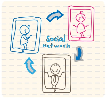 Community social network Vector
