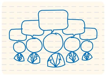 Communauté de réseau social Vecteurs