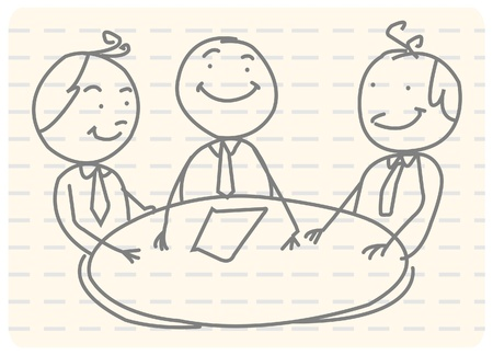team discussion: business meeting teamwork  Illustration