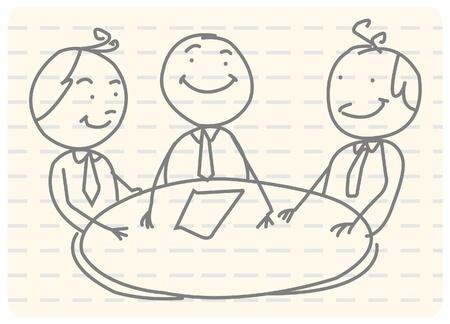 business discussion: reuni�n de trabajo en equipo Vectores