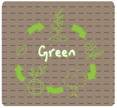 Green plant Recycle  Vector