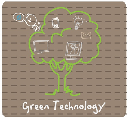 tree technology social  Vector