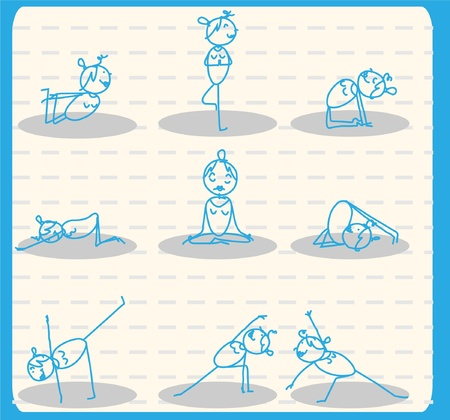 relaxation exercise: woman yoga set
