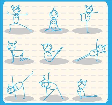 sit ups: woman yoga set