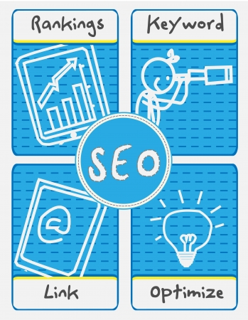 SEO Concept vector  Illustration