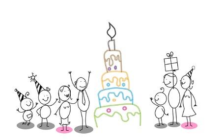 feliz cumplea�os caricatura: la fiesta de cumplea�os
