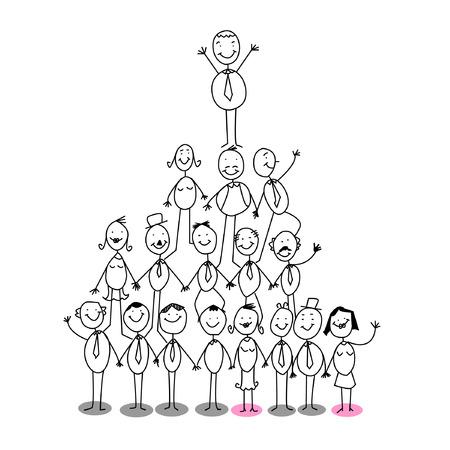 hi�rarchie: Organisatieschema Stock Illustratie