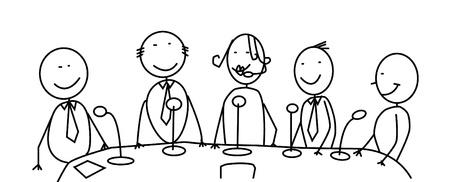 vergadering team vector Vector Illustratie