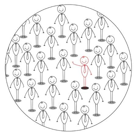 individui: il leader Vettoriali