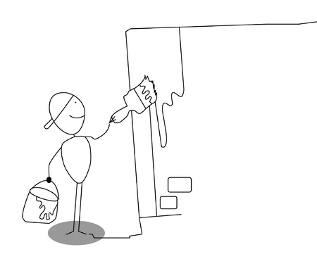 worktool: man painter  Illustration