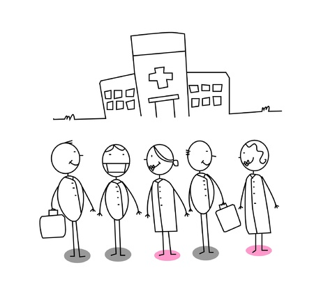 cartoon hospital: Hospital