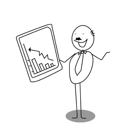 businessman up chart Stock Vector - 11122940