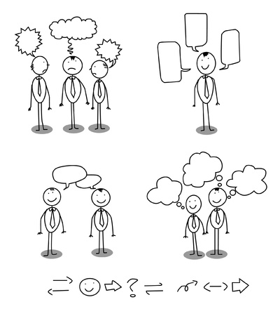 communication man  Illustration