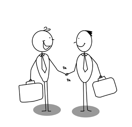shake a hand business  Vector