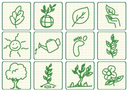 green ecology concept vector Illustration