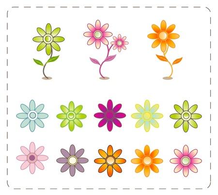 painterly: flower symbol