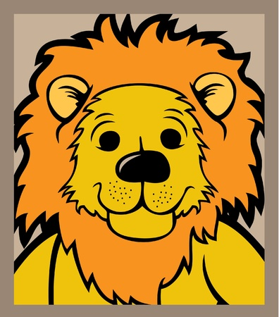 Lion head isolated  Vector