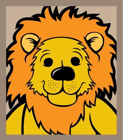 Lion head isolated  Vector