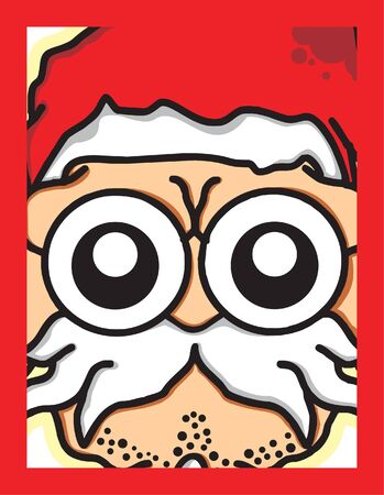 funny Santa head card Vector