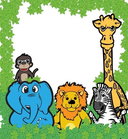 Animal team illustration  Vector