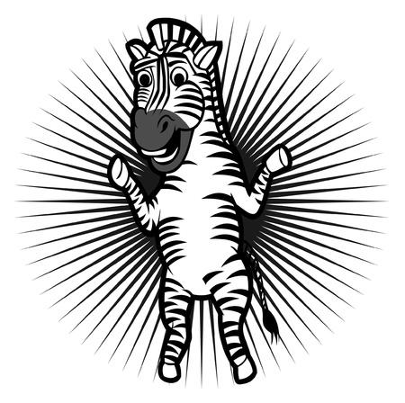 zebra character Stock Vector - 11308302