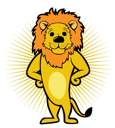 lion smile stand  Vector