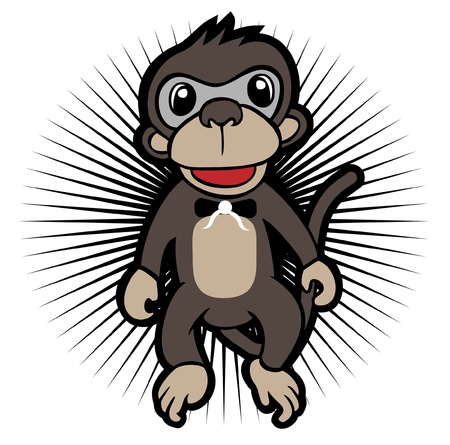 Monkey Character Vector