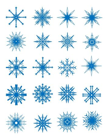 Snowflakes set Illustration Vector