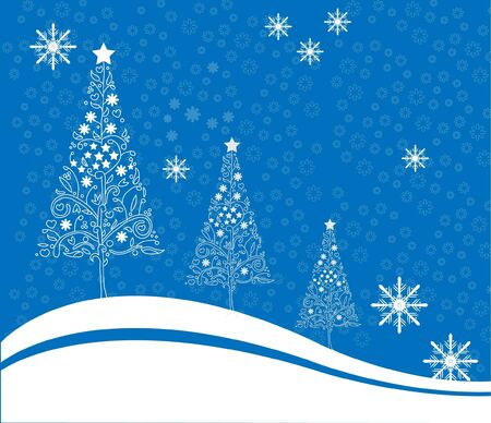 snowflakes Christmas background Vector