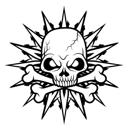 iron cross: Skull sign