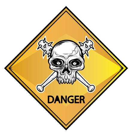 Skull sign danger Stock Vector - 11312307