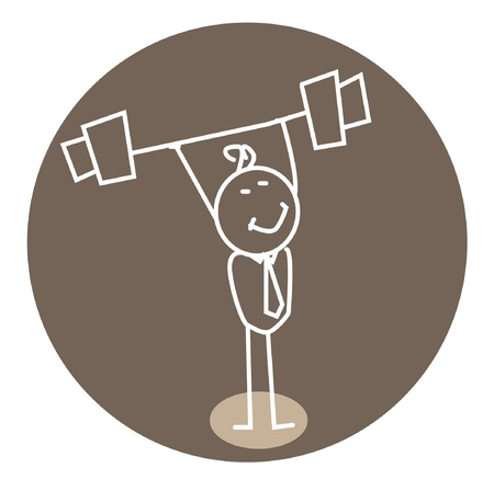 strong weightlifting  Illustration