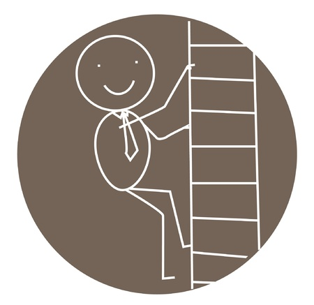 businessman stair success Stock Vector - 11531081