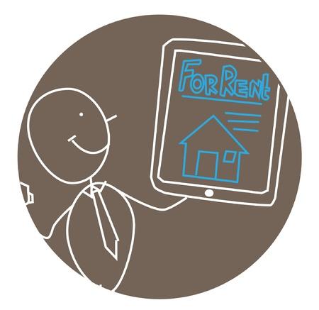 businessman rent house Stock Vector - 11531107