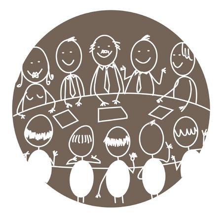 reunión de trabajo en equipo Ilustración de vector