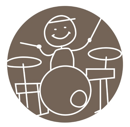 drum and bass: drummer isolated vector
