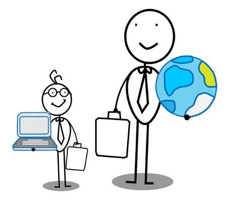 big and small: Big & small businessman
