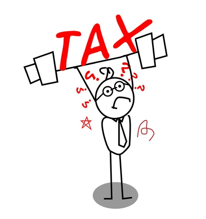 Tax for weak businessman Stock Vector - 11815133