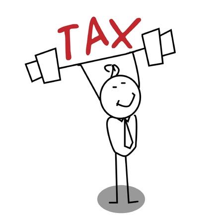 taxes: Empresario fuerte por el Impuesto Vectores