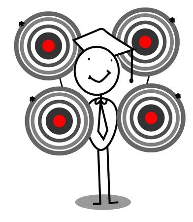 Graduate Target Stock Vector - 11815100