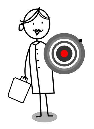 medical center: Nurse Target  Illustration