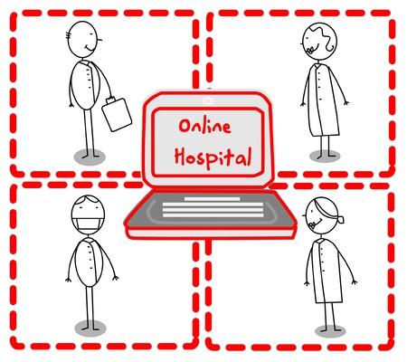 Doctor Team Hospital Online  Stock Vector - 11815076
