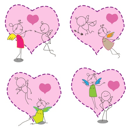 Cupid & Angel Stock Vector - 11815136