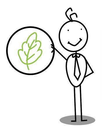 Leaf businessman Vector