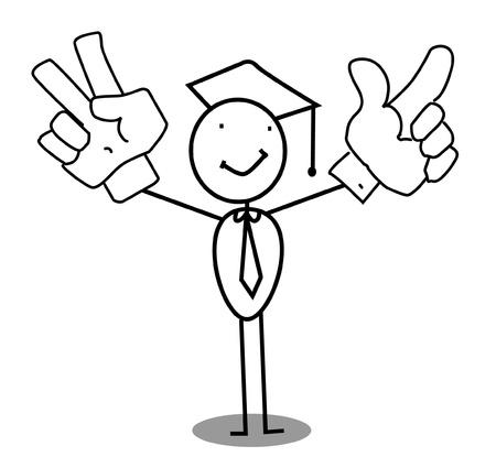 grad: Graduate Celebration vector  Illustration