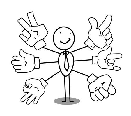 hand sign businessman  Stock Vector - 11815143