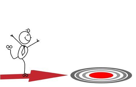 Businessman Go Target  Vector
