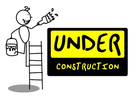 coming: Under Construction people illustration vector  Illustration