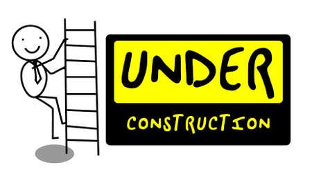 Under Construction people illustration vector  Stock Vector - 12053599
